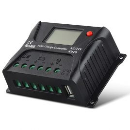 Controlador Regulador Solar 10/20A, Display LCD, USB SR-HP2410/20